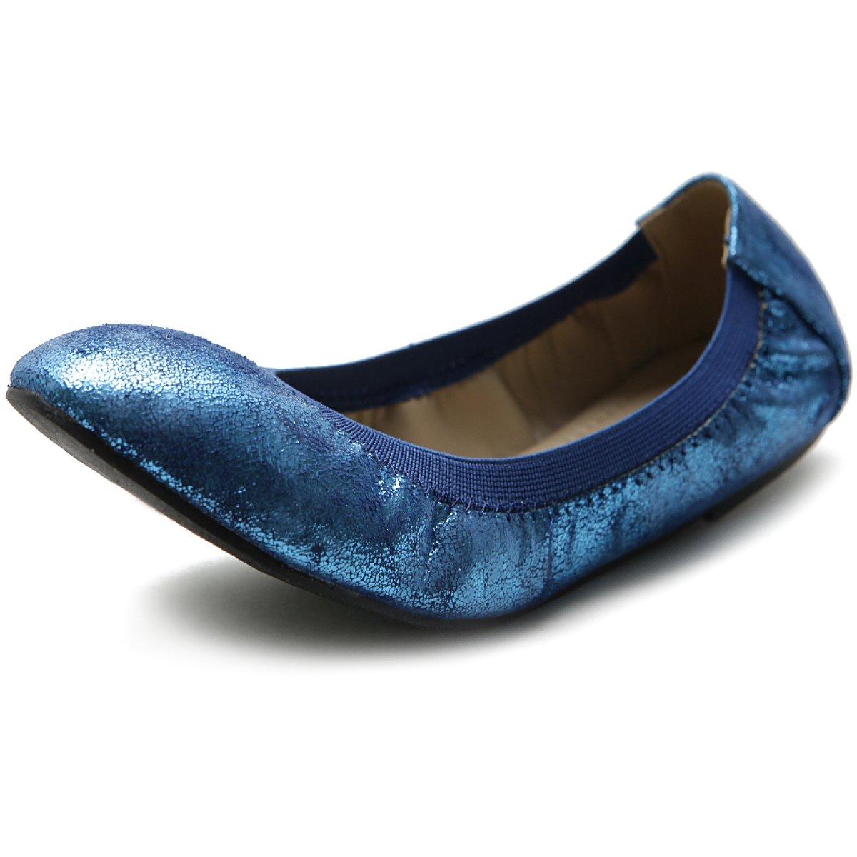 Ollio Women's Shoe Comfort Multi Color Cute Ballet Flats B07DGLT4B7 8 B(M) US Royal Blue