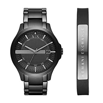 da83063d3bc4 Amazon.com  Armani Exchange Men s AX7101 Watch and Bracelet Gift Set ...