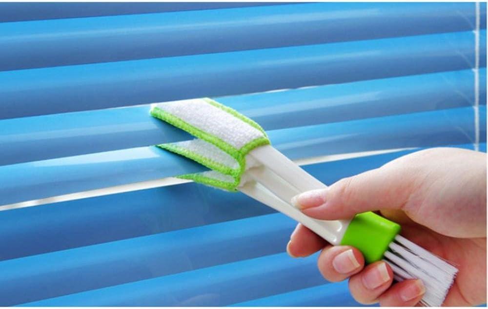 Amovible Pawaca Voiture Brosse de Nettoyage Vert Blanc Lavable /à la Main Brosse pour Conduits Da/ération deVoiture et Store V/énitien et Claviers /& Climatisation