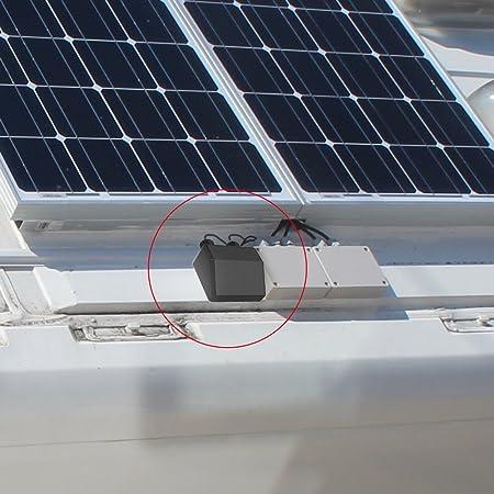 Giaride Techo Pasaventanas Soportes de Montaje y Doble Glándula Entrada de Cable Premium ABS para Panel Solar Barcos Caravanas RV Cobertizos, ...
