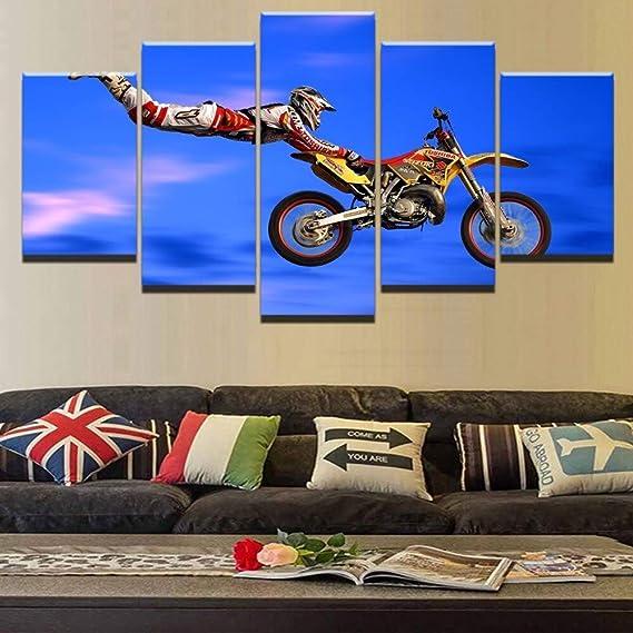 mmwin Moderna Lienzo HD Wall Impreso Arte de la Pintura 5 Pieza ...