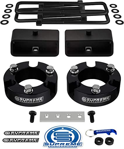 "1/"" Rear Lift Kit For 99-06 Toyota Tundra TRD Billet Blocks with U-Bolts 2WD 4WD"