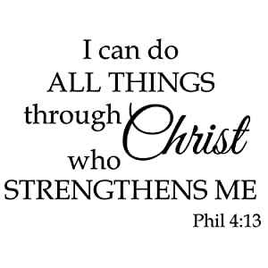 I Can Do All Things Through Christ who Strengthens me,Wall Sticker Motivational Wall Decals,Family Inspirational Wall Stickers Quotes …