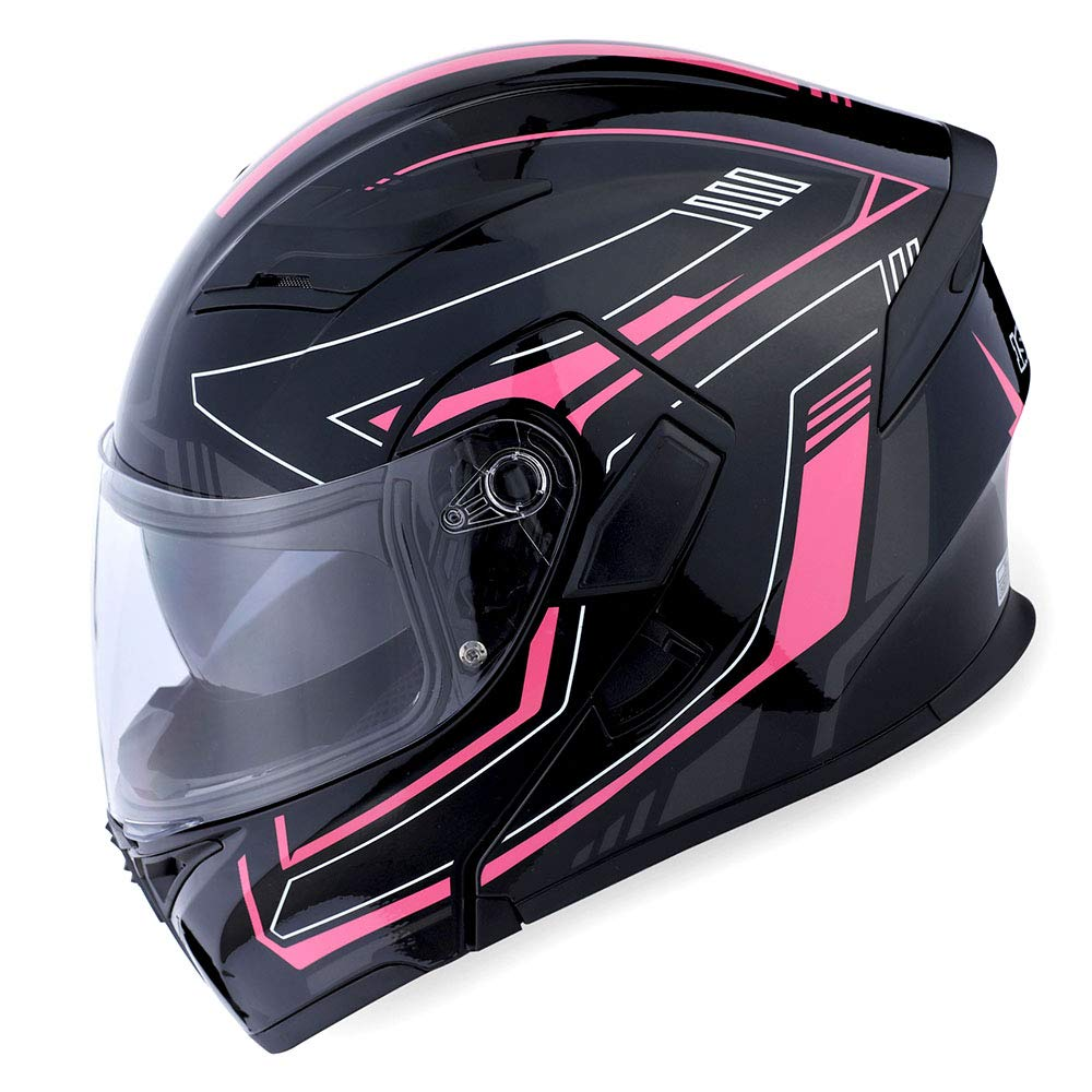 8fcc3255 53-54 CM,20.9/21.3 Inch HB89 Matt Black; Size S 1Storm Motorcycle Modular  Full Face Helmet Flip up Dual Visor Sun Shield