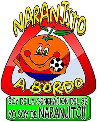 Pegatina Naranjito a bordo fútbol La Roja España: Amazon.es: Bebé