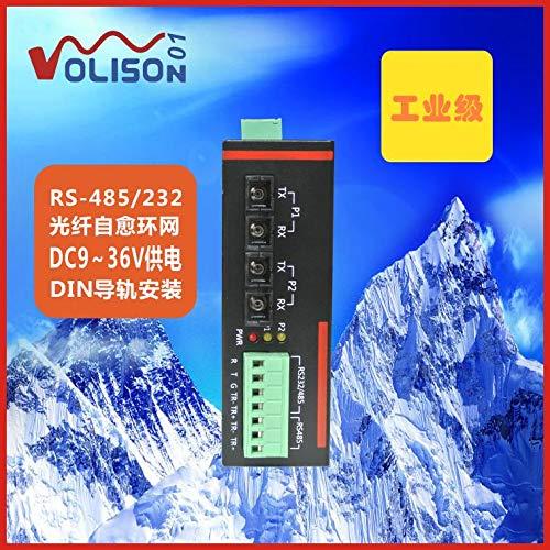 (Lysee Bidirectional 485 fiber self-healing ring optical ring network RS232/485 optical transceiver repeater optical cat - (Color: SC fiber) )