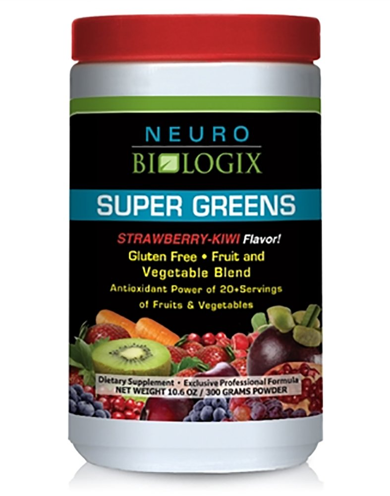 Neurobiologix - Super Greens Strawberry/Kiwi (10.6 oz- 300 grams)