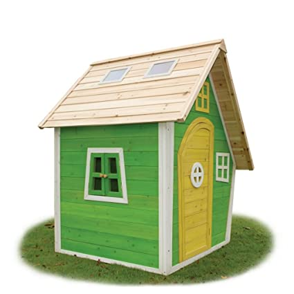 EXIT Fantasia 100 Wooden Playhouse - Green Casa de Juegos de Suelo - Casas de Juguete