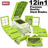 ANVEL ABS Food Grade Vegetable Choppers for Kitchen-Green