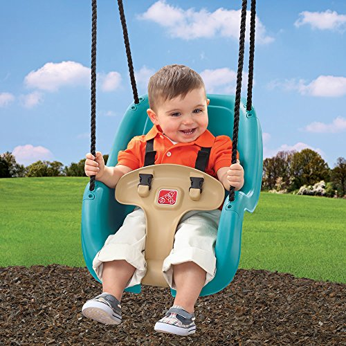 Step2 infant to toddler swing seat turquoise buy online for Baby garden swing amazon