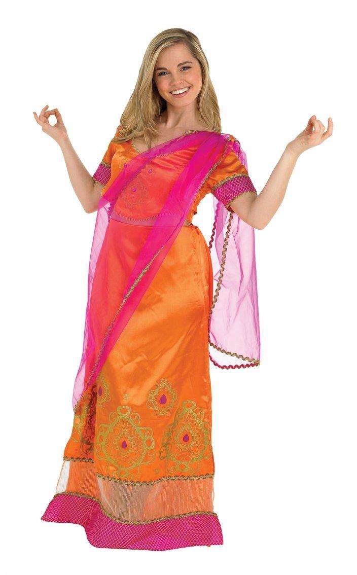 Amazon.com: Bollywood Starlet naranja sari – pequeño – UK ...