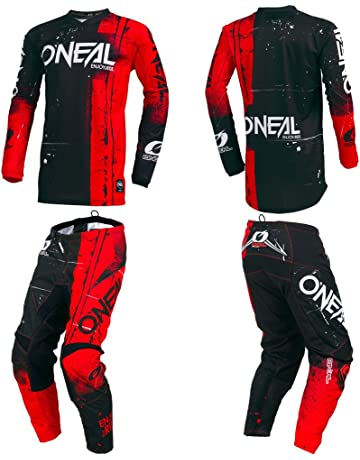 a2611457dd22 O Neal Element Shred Red Adult motocross MX off-road dirt bike Jersey Pants