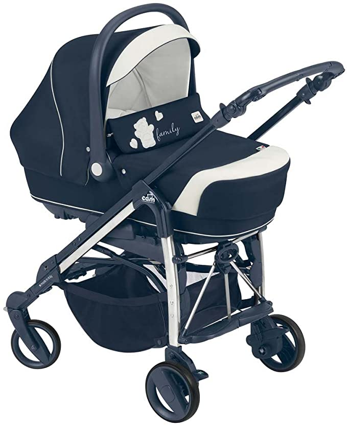 Cam Il Mondo Del Bambino ART845020 - Combi Family sistema de tres módulos, oso, azul: Amazon.es: Bebé