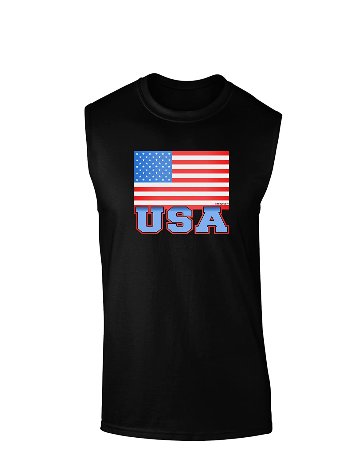 TOOLOUD USA Flag Dark Muscle Shirt