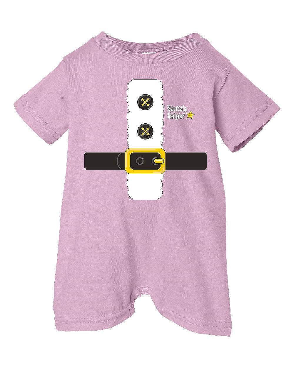 Pink, 24 Months Festive Threads Unisex Baby Christmas Santas Helper Outfit T-Shirt Romper