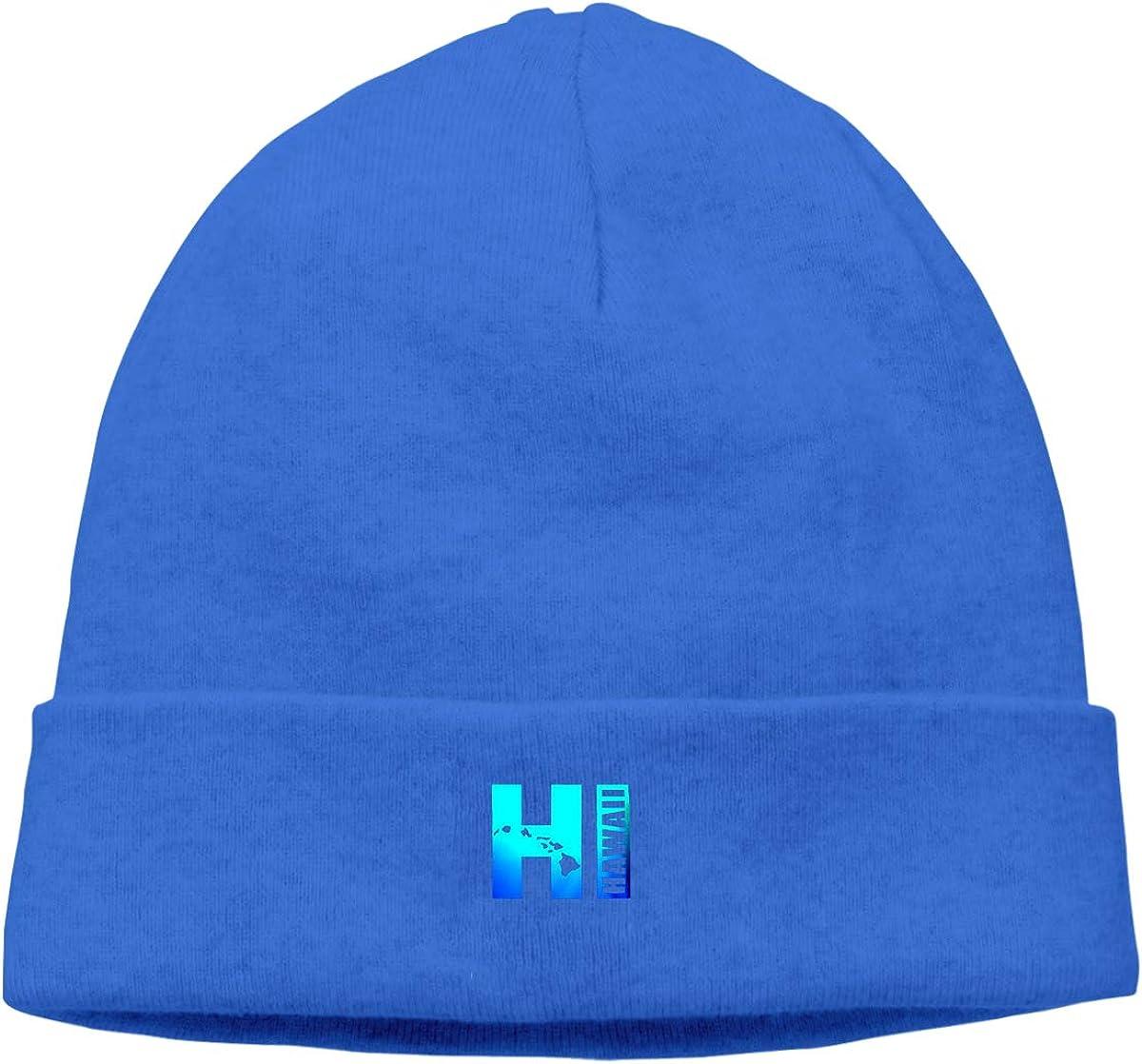 09/&JGJG Hawaii Unisex Soft Beanie Hats Winter Warm Knit Beanie Cap