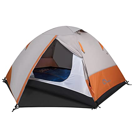 Backpacking Tent u2013 Lightweight Mountaineering Tent Material Waterproof High Visibility C&ing Tent with Large  sc 1 st  Amazon.com & Amazon.com : Backpacking Tent - Lightweight Mountaineering Tent ...