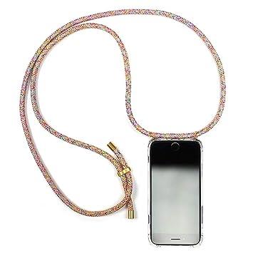 Handykette Handyhülle mit Band Kompatibel mit iPhone 6 Plus - Handy-kette Handy Hülle mit Kordel Umhängen -Handy Halsband lan