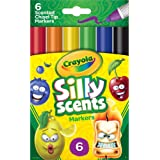 Crayola Silly Scents Scented Markers, Washable, 6Count