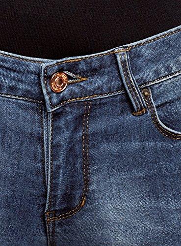 7500w Skinny Moyenne Taille oodji Bleu Jean Femme Ultra a8XwXyq0t