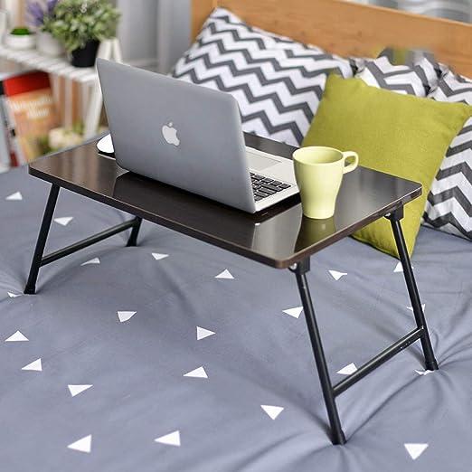 DKZK Mesa para Notebook, Dormitorio con Escritorio PequeñO, Cama ...