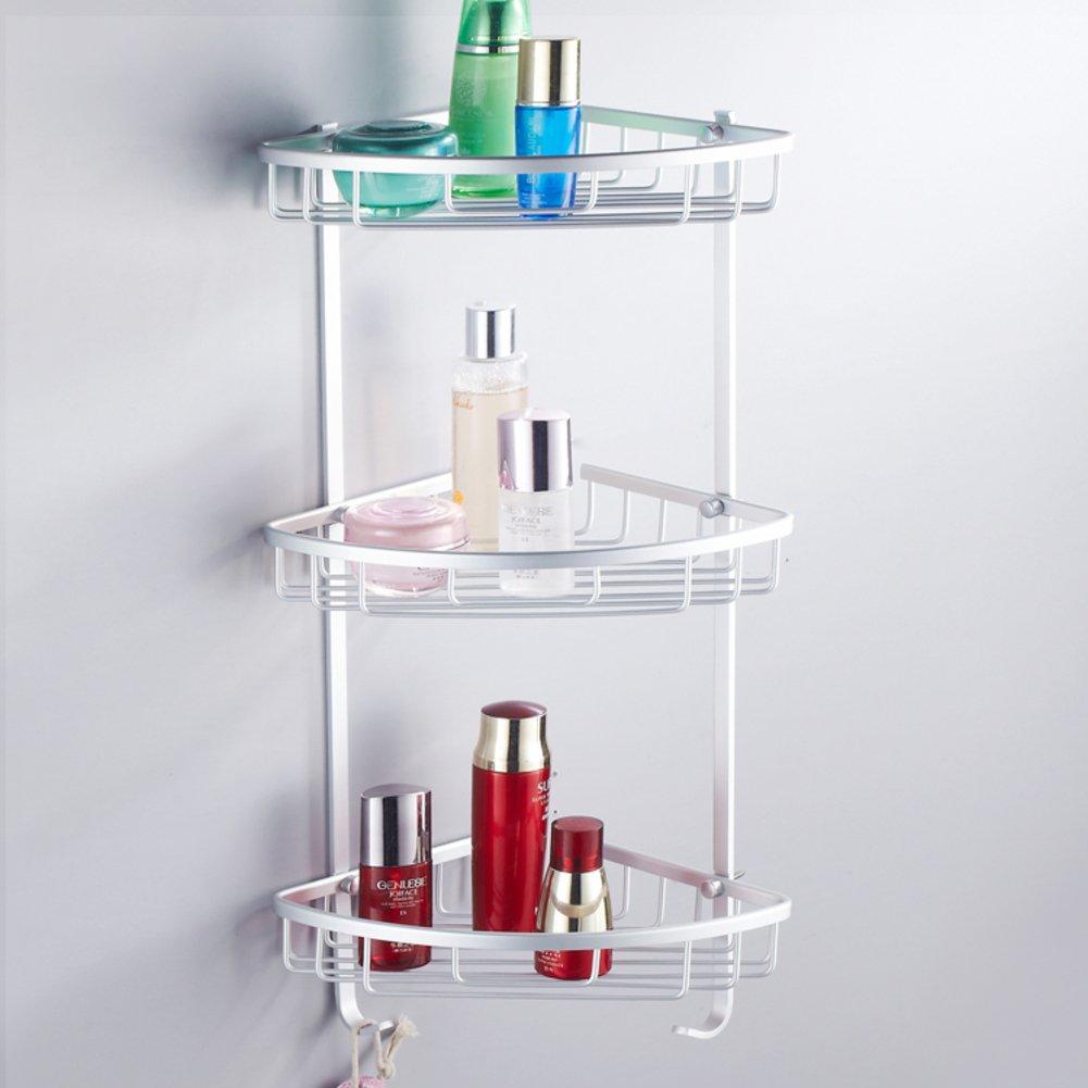 30%OFF Space aluminum bathroom racks/Bathroom with double triangular rack / wall-mounted bathroom storage rack-D