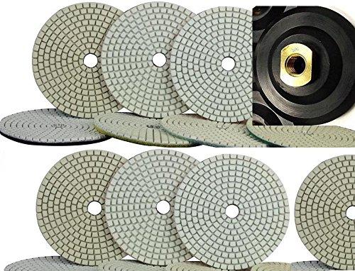 5-inch-5-125mm-diamond-wet-dry-granite-polishing-pads-8-pieces-5-8-11-thread-rubber-pad-holder-marbl