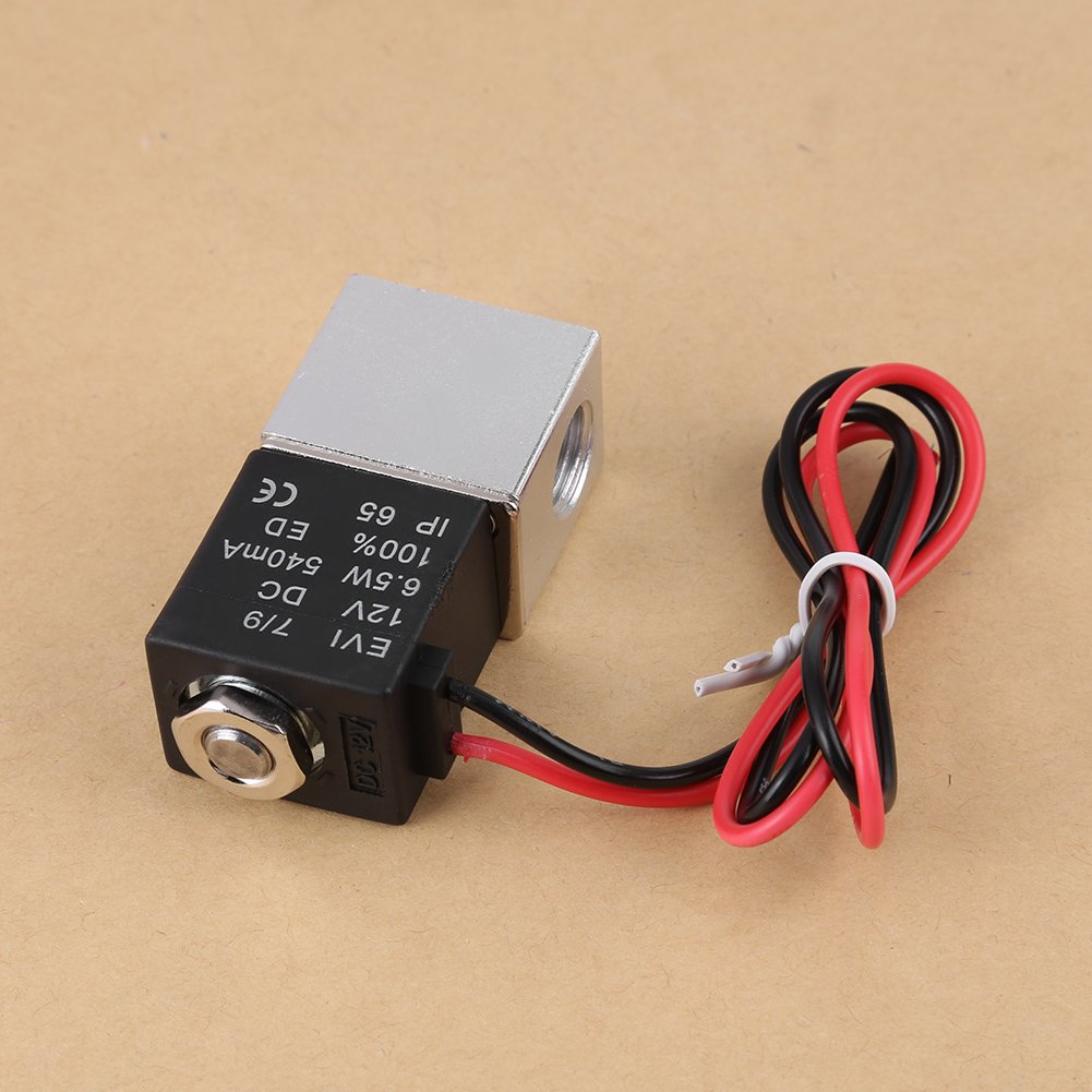 2V025-1//4-12VDC Magnetventil 12V DC 1//42-Wege-normalerweise geschlossenes pneumatisches Aluminium-Elektromagnetventil 1.2MPa