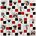 """SomerTile WDSMIN38 Disney Minnie Red Glass Mosaic Wall Tile, 11.75"""" x 11.75"""", , Red, White, Black, Beige from SomerTile"""