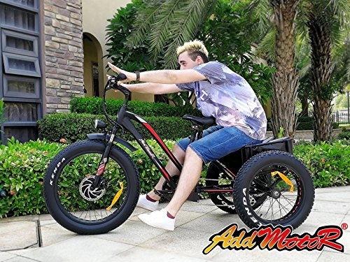 Addmotor Electric Tricycle 24 Inch Fat Tire Electric Bicycle Trike