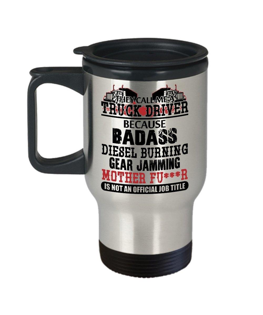 Truck Driver Travel Mug with Lid – TowトラックDriver – 11オンスアルミニウム   B077C32DJV