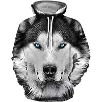Ocean Plus Heren 3D Grappige Hoodie met Lange Mouwen Meerkleurig Unisex Capuchonpullover Streetwear Sportief Sweatshirt…