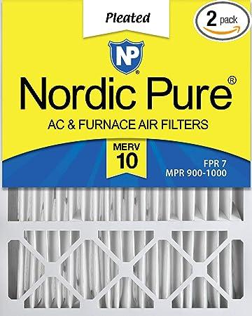 MERV 10 Lennox X6673 Replacement AC Furnace Air Filter Box of 1 Nordic Pure 20x25x5 4-3//8 Actual Depth