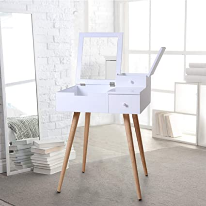 pretty nice 8cb4c 21cf1 Organizedlife White Mirror Vanity Dresser Table with Drawers