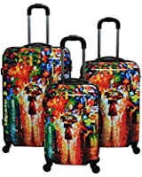 Dejuno Lightweight Hardside Upright Luggage Set