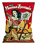 chili fries chips - Route 11 Mama Zuma's Revenge Potato Chips, HOT habanero chips, spicy potato chips, kettle cooked in small batches, non-GMO, nut free (12 bags (6 oz each))