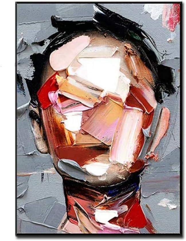 Gbwzz Personas sin Rostro Cuadros Abstractos Pintados a Mano Pintura al óleo sobre Lienzo Cuadros de Arte de Pared para Sala de Estar Decoración del hogar Sin Marco