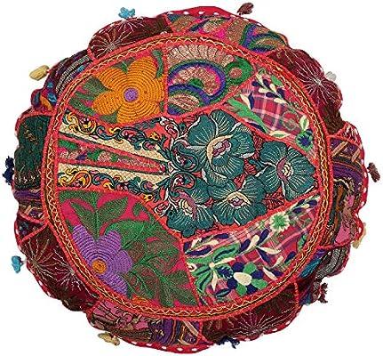 Amazon.com: Janki Creation Indian Patchwork Seat Cover Yoga ...