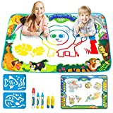 JOYIN Klever Kits 2 Pieces Water Doodle Mats 34.5''x22.5'' Kids Aqua Magic Water Drawing Mat Painting Writing Activity Boards Toy for Boys and Girls Age 2-5 Years Old, Todler Educational Gift