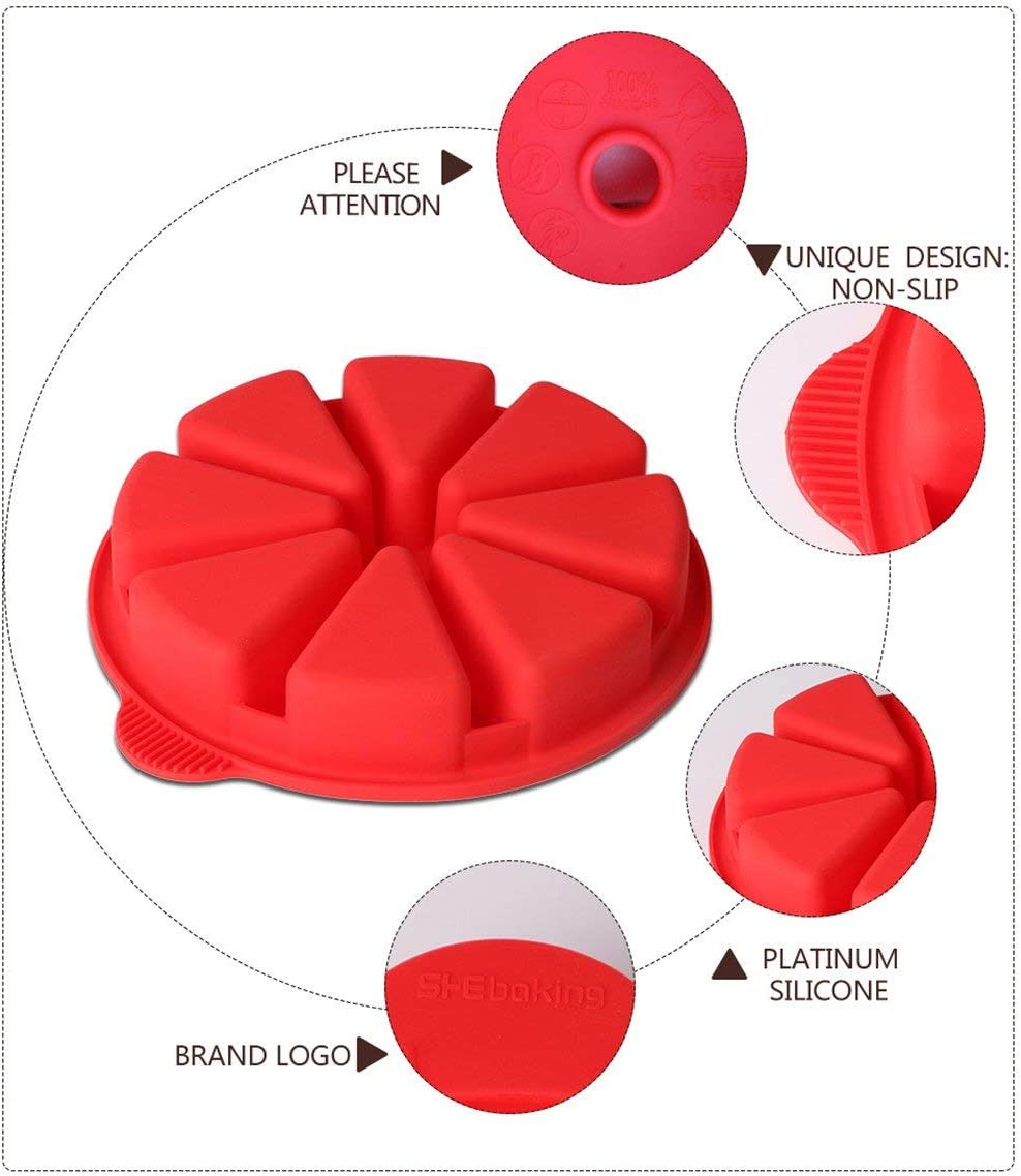Soap Clay Polymer PSOAIN 2 Pieces 1 Cavity Onion Shape Mousse Cake Mould 3D Silicone Candle Model Dessert Cheesecake Baking Pan for Cake Random Color Muffin Bread