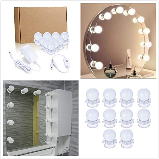 BABINANA Espejo de Maquillaje LED Cadena de Luz para Mesa Lámpara ...