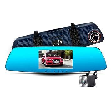 life-mall 5 pulgadas cámara tacógrafo coche espejo retrovisor 1080p Grabadora de Coche DVR Registrator
