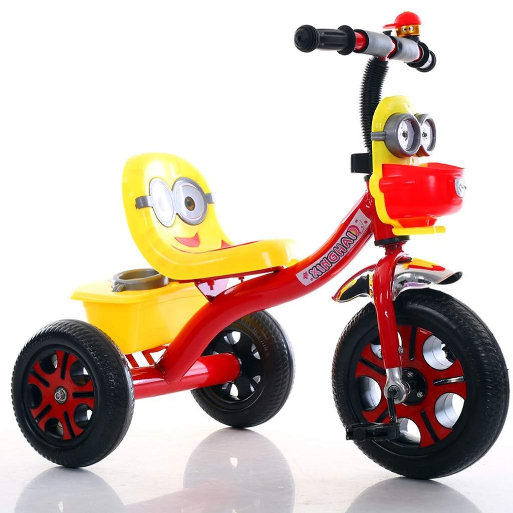 Minmin Kinder-Dreirad 2-6 Jahre altes Baby dreirädriges Fahrradkinderkinderwagen mit Musikblitz