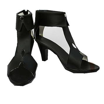 Cosplay Stiefel Schuhe for Guilty Crown Inori Yuzuriha black