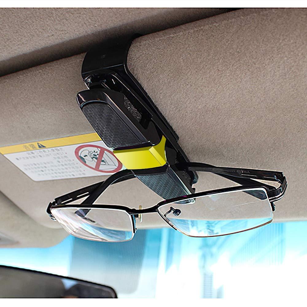 Schwarz Etmury Sonnenbrillen Brillen mit Kartenkarten Clip Zubeh/ör Autozubeh/ör Auto Brillenhalterung Sonnenbrillenhalterung f/ür Brille um 180 /° KFZ Brillenhalter f/ür Auto Sonnenblende 2 Pack