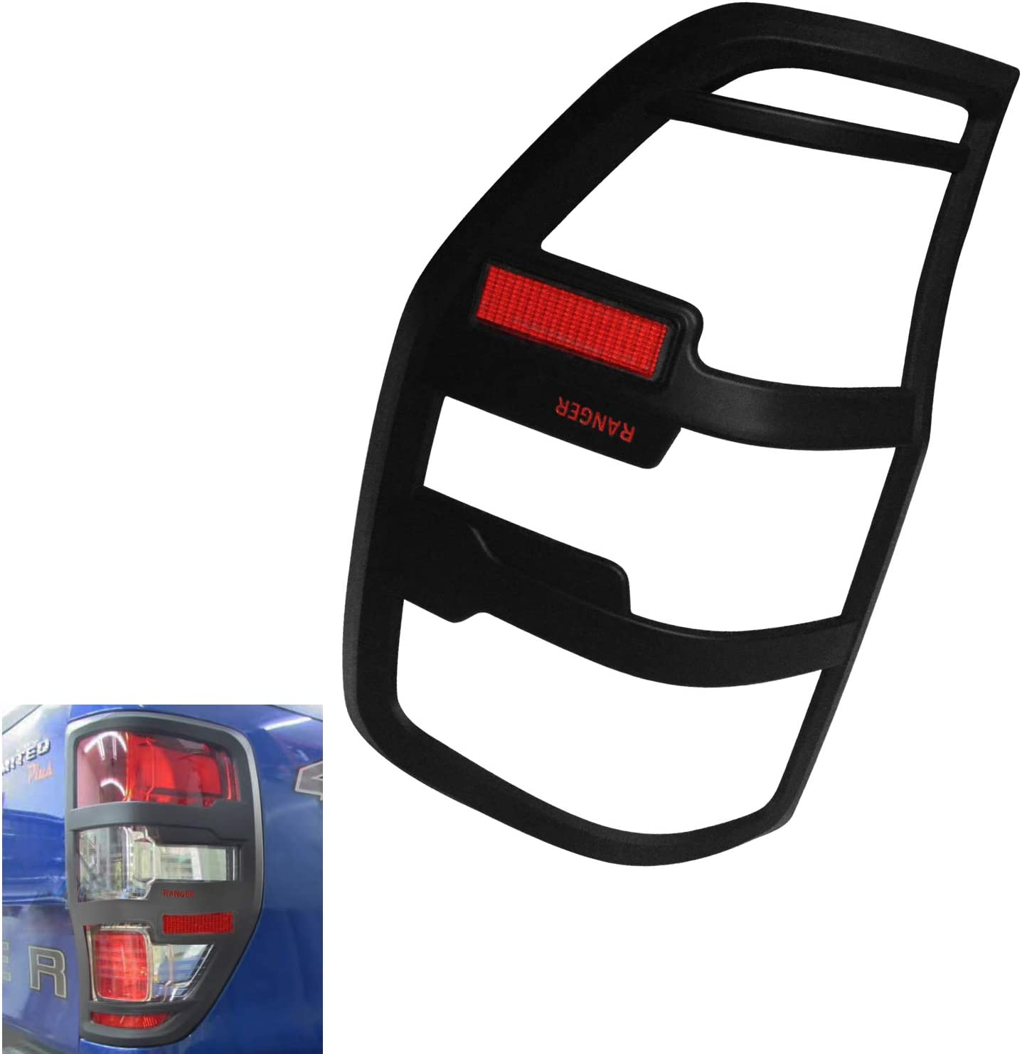 DOOd Exterior auto Vehicle Accessories Rear Trim Lights Covers headlamp Cover Tail Lights Covers fit for Ford Ranger T7 T8 XL XLS XLT wildtrak 2018-2020 Pickup car Parts
