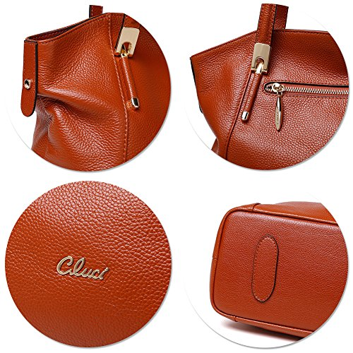 4 Purse Ladies Brown Handbags Women Handle Tote Shoulder Bag Bag Leather Top Satchels Designer 4xAOa