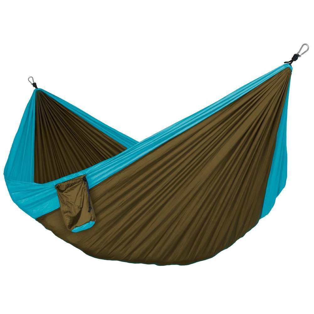 Zxcvlina Ultralight Hammock with Tree Straps for Camping , Durable Ripstop Parachute Nylon Hammocks Lightweight Gear for Outdoors, Backpacking, Hiking with Space-Saving Steel Stand by Zxcvlina (Image #1)