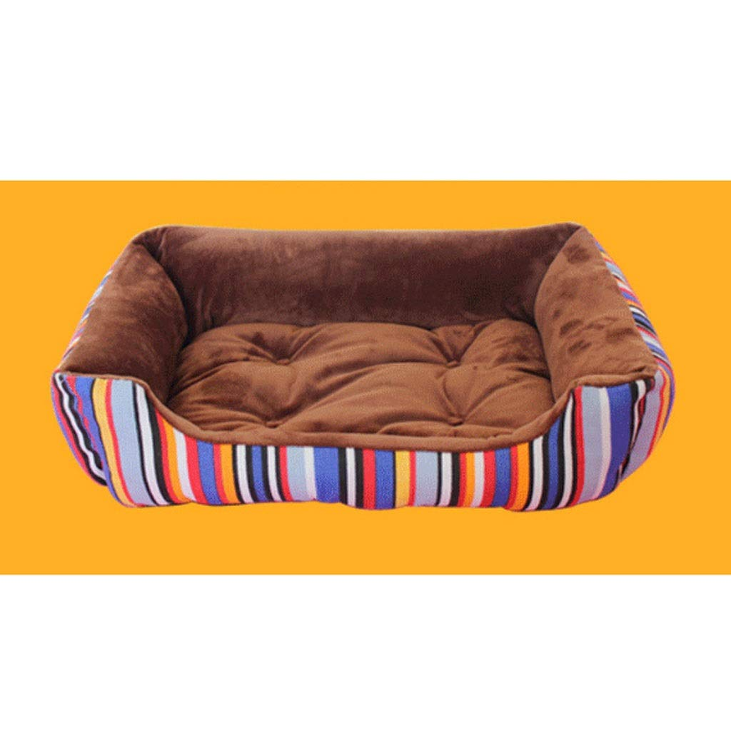 Brass XXLargeBarryL Dog Bed Cat Bed Kennel Removable And Washable Dog Mattresses Cat Litter Small Medium And Large Dogs And Dogs Supplies Pet Bed (color   bluee, Size   XXL)