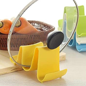 Chunshop Wave Style Pan Pot Cover Spoon Lid Rack Rest Stand Holder Kitchen  Utensil New (